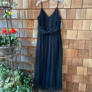NWT Christian Siriano Black Tulle Gown - 14